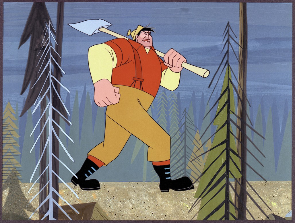 paul bunyan lumberjack tall tale drawing illustration