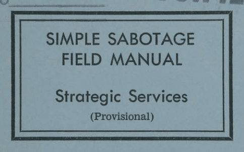 WWII Tips of Sabotaging Enemy Efforts | The Art of Manliness