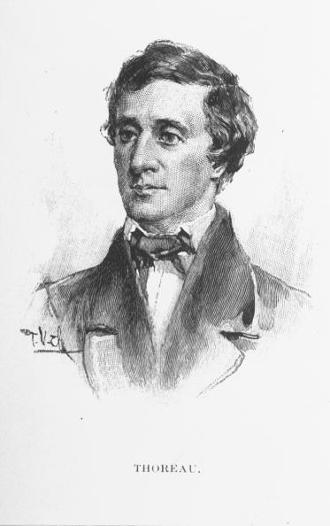young henry david thoreau drawing portrait