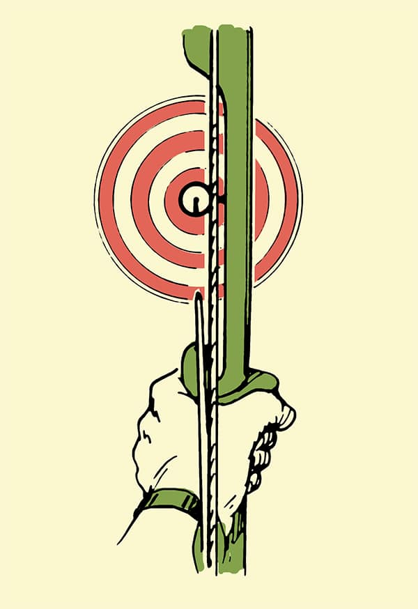 archery how to aim your bow and arrow illustration