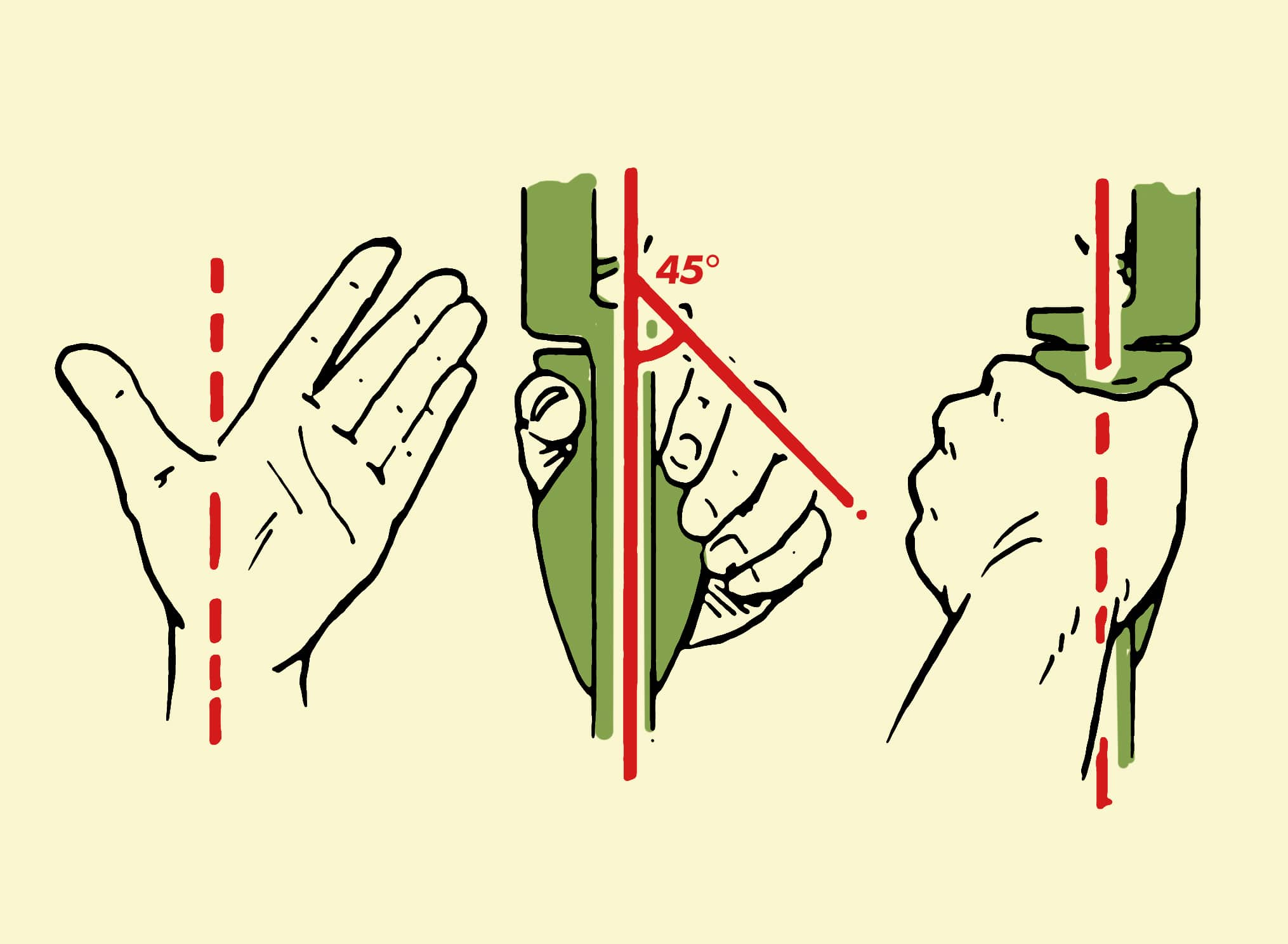 archery how to grip the bow illustration