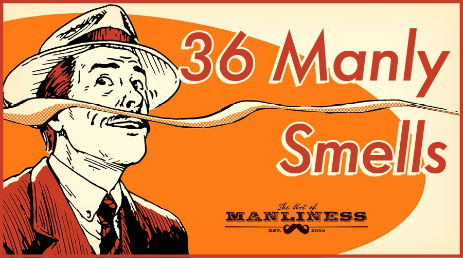 36 manly smells man sniffing the air illustration