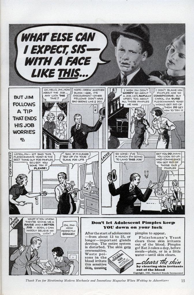 vintage fleishmann's yeast ad advertisement