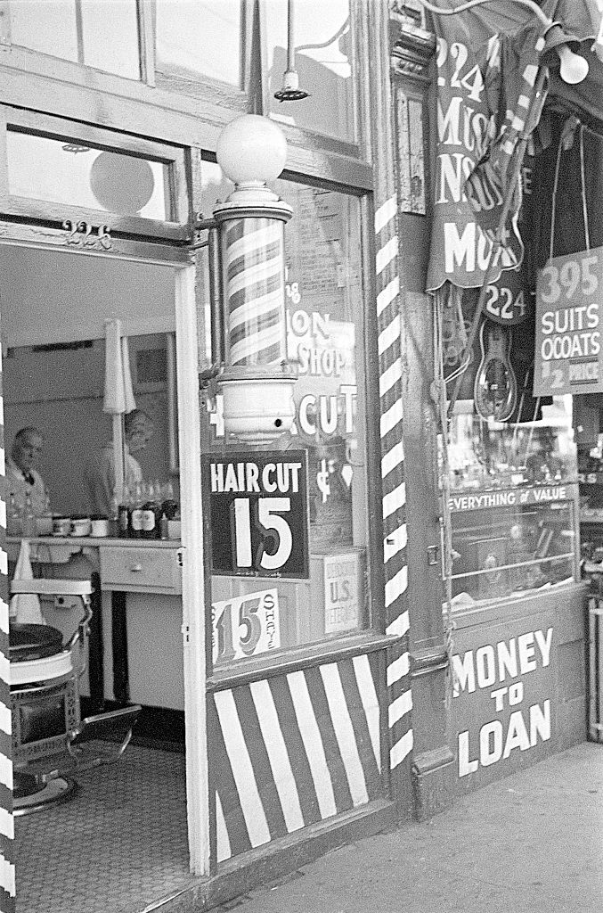 vintage barbershop entrance haircut 15 cents