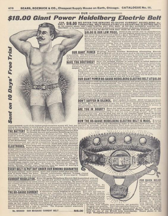 heidelberg electric belt vintage ad advertisement