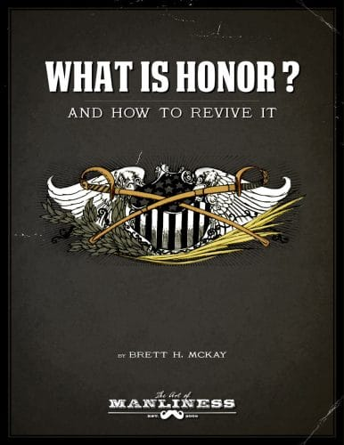 what is honor book cover brett mckay