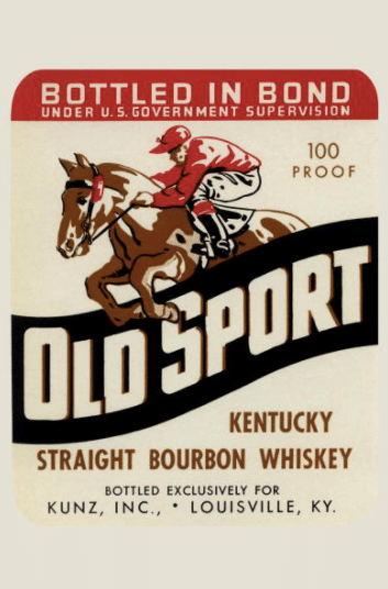 old sport kentucky straight bourbon whiskey label