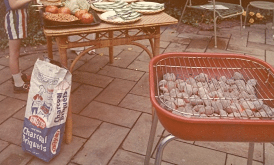 vintage grill out kingsford charcoal and grill
