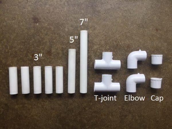 Pvc pipe marshmallow gun supplies.