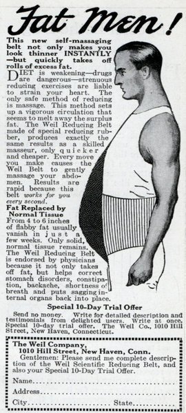 vintage weight loss ad advertisement weil belt