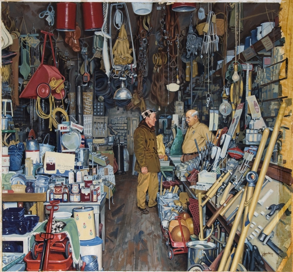vintage hardware store painting carol johnson