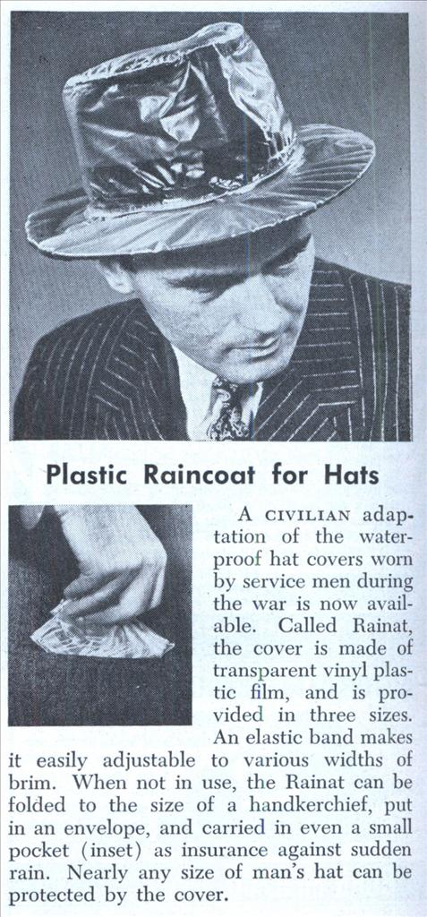 vintage rainat hat cover ad advertisement