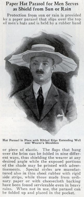 vintage hat protector paper hat parasol ad advertisement