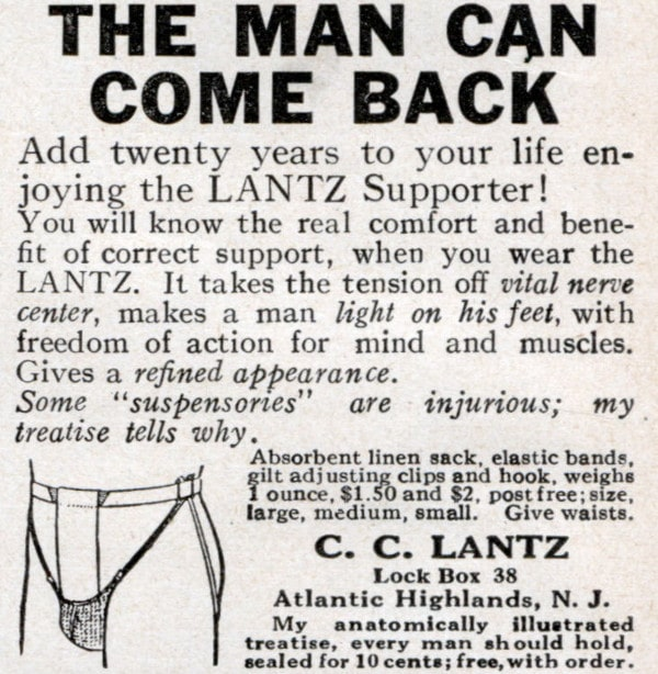 vintage lantz supporter ad advertisement jockstrap