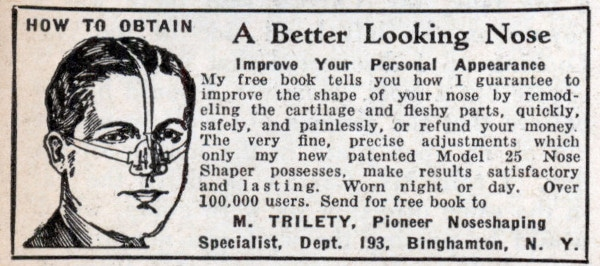 nose shaper vintage ad advertisement