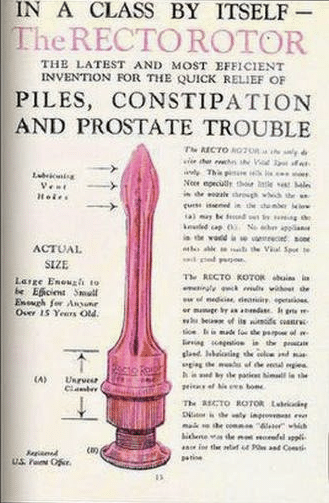vintage rectorotor ad advertisement for constipation