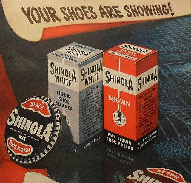 vintage shinola shoe polish ad advertisement