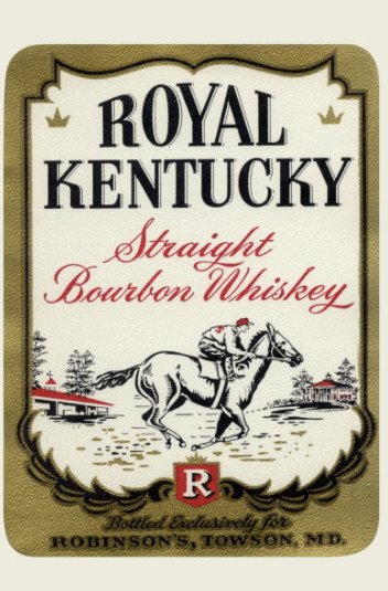 royal kentucky straight bourbon whiskey vintage label