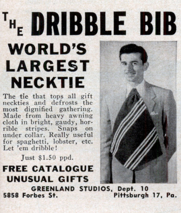 vintage dribble bib necktie ad advertisement