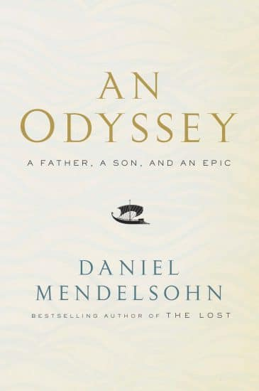 Book cover an odyssey by daniel mendelsohn.