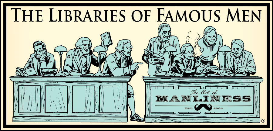 libraries of famous men illustration