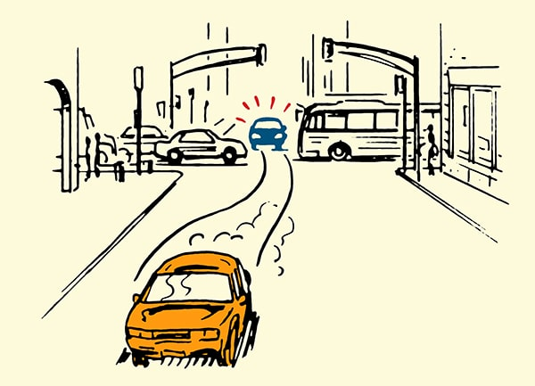 evasive driving illustration