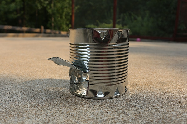 Hobo stove for camping backpacking hitchhiking.