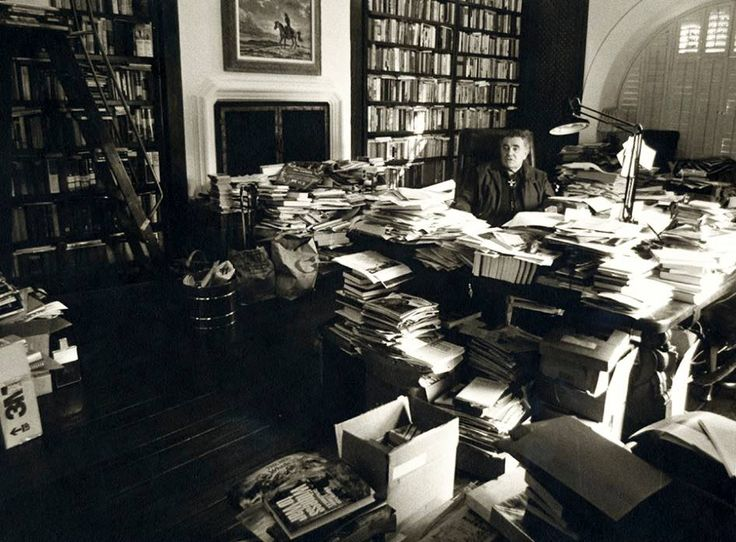 louis l'amour in his large home library