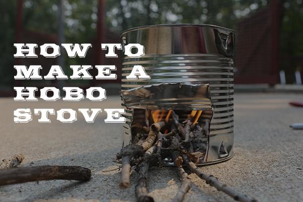 Hobo stove tin can fire.