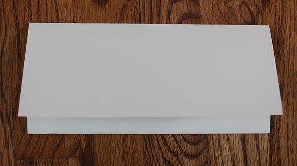 Folded formal letter.