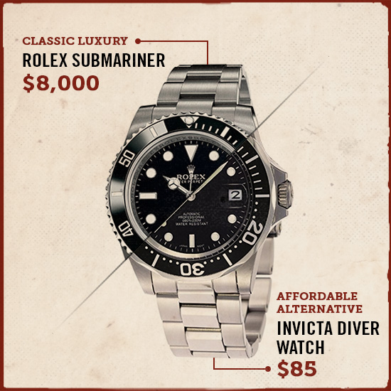 rolex submariner luxury watch alternative