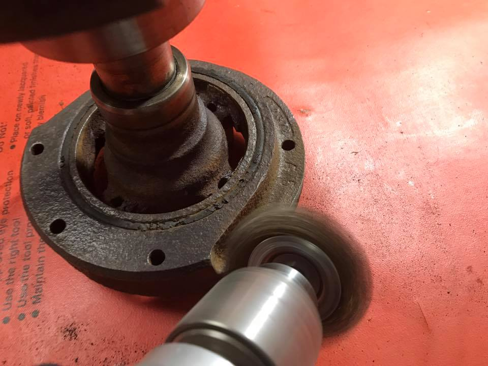 removing rust from crankshaft