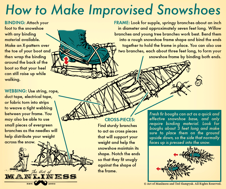 How to Make Improvised Snowshoes | The