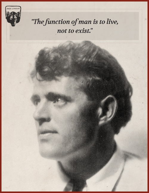 jack london quote function of man is to live