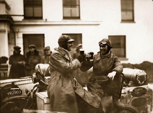 vintage men toasting