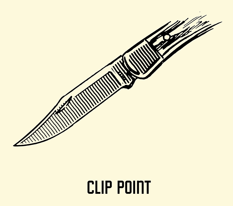 clip point pocket knife blade illustration