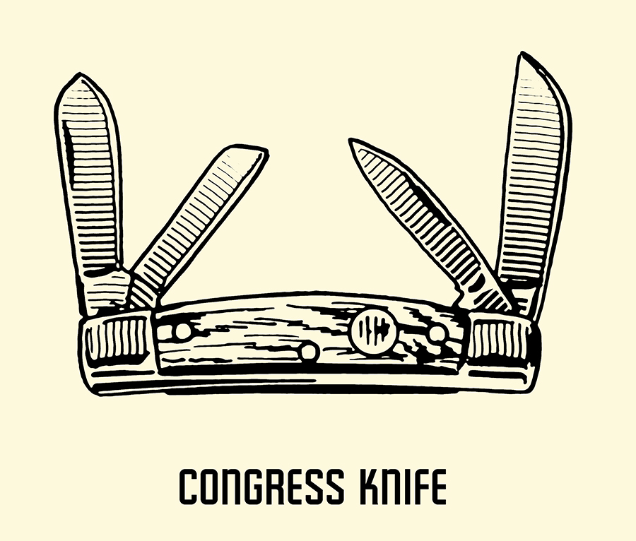 congress pocket knife illustration