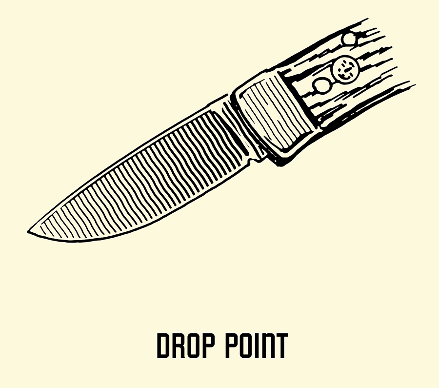 drop point pocket knife blade illustration