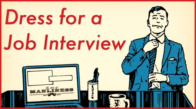 how to dress for job interview illustration