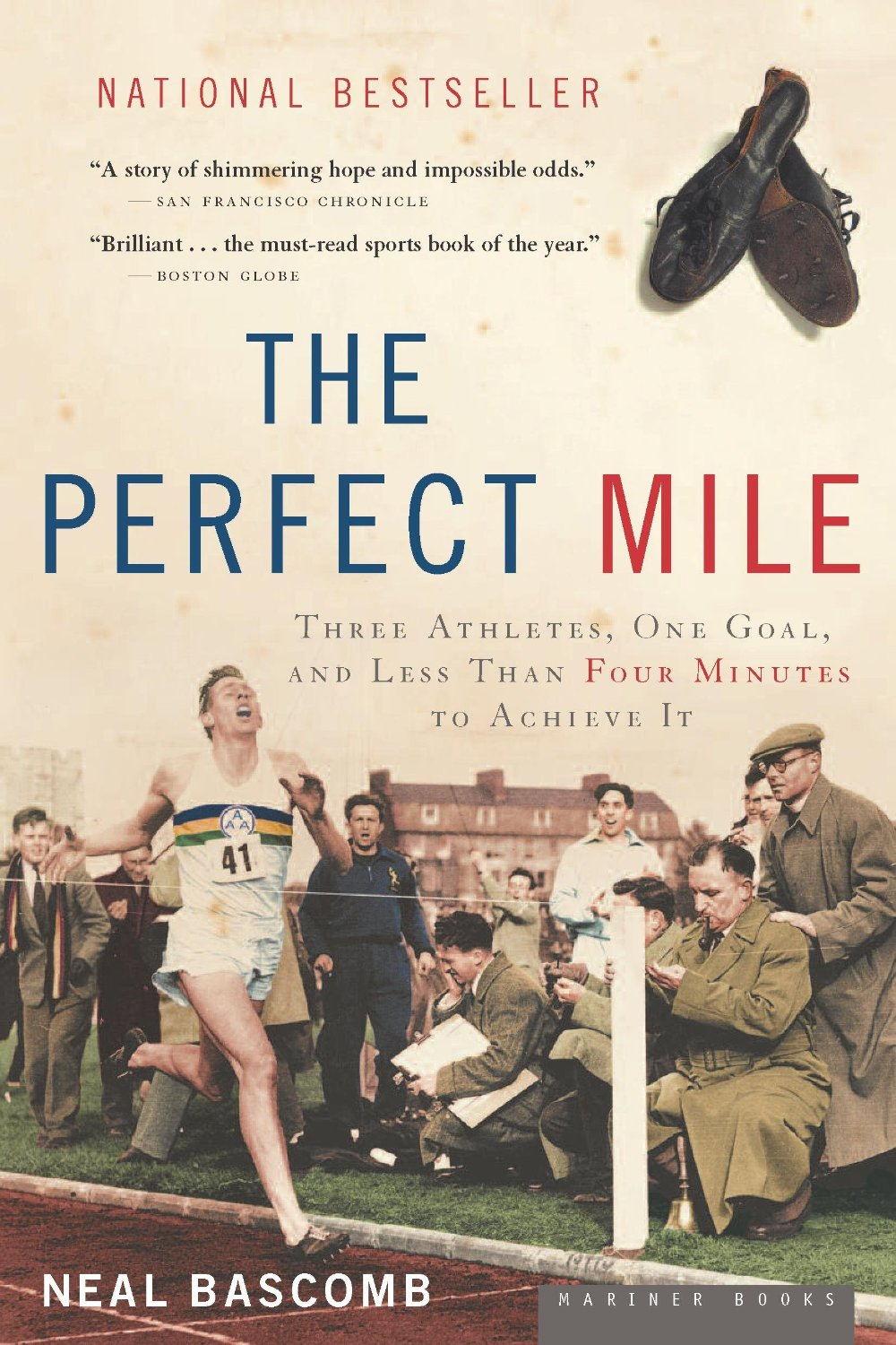 "Book cover of ""The Perfect Mile"" by Neal Bascomb."