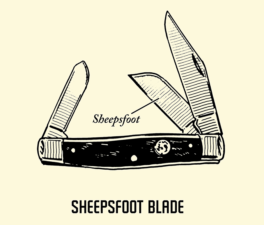 sheepsfoot pocket knife blade illustration