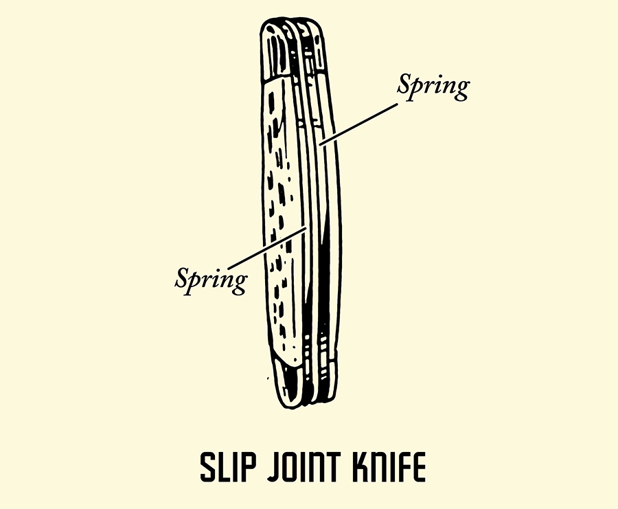 slip joint knife pocket knife illustration