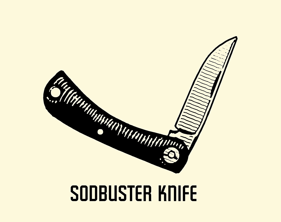 sodbuster pocket knife illustration