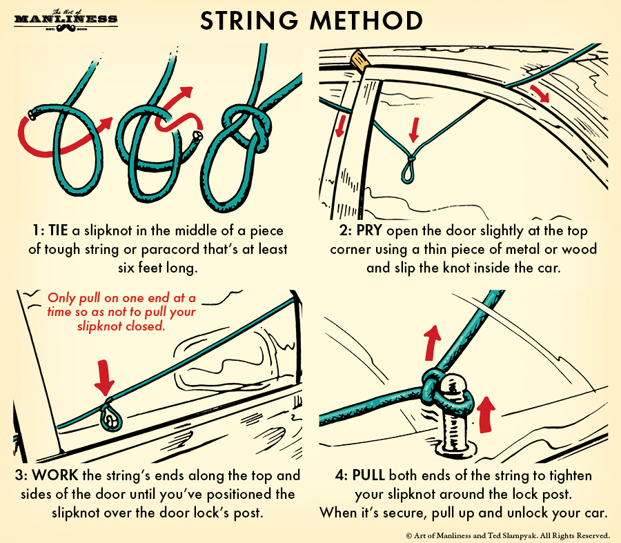 Unlock Car Door String Method
