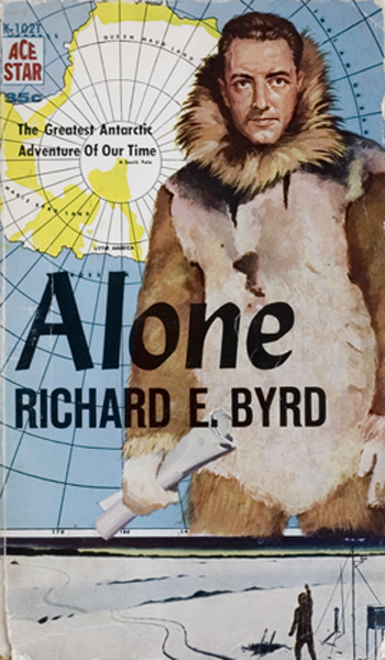 "Book cover of ""Alone"" by Richard E.Byrd."