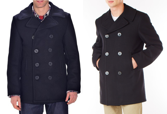 double breasted pea coat made in the usa
