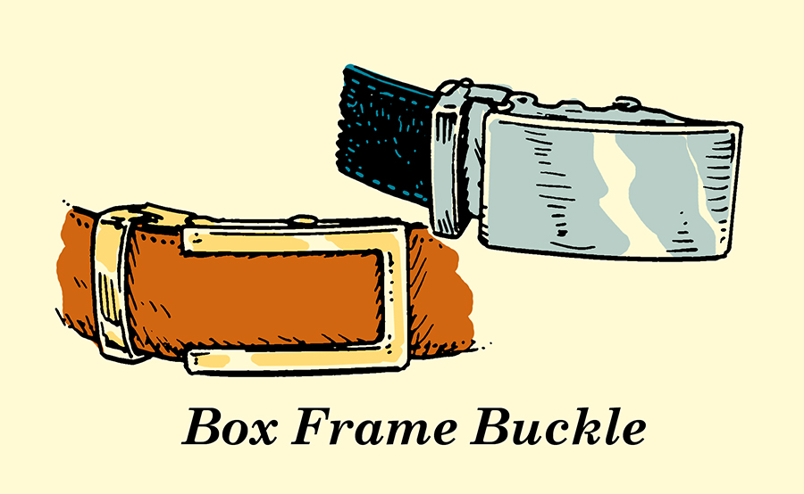 box frame belt buckle