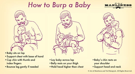 How to Burp a Baby   The Art of Manliness