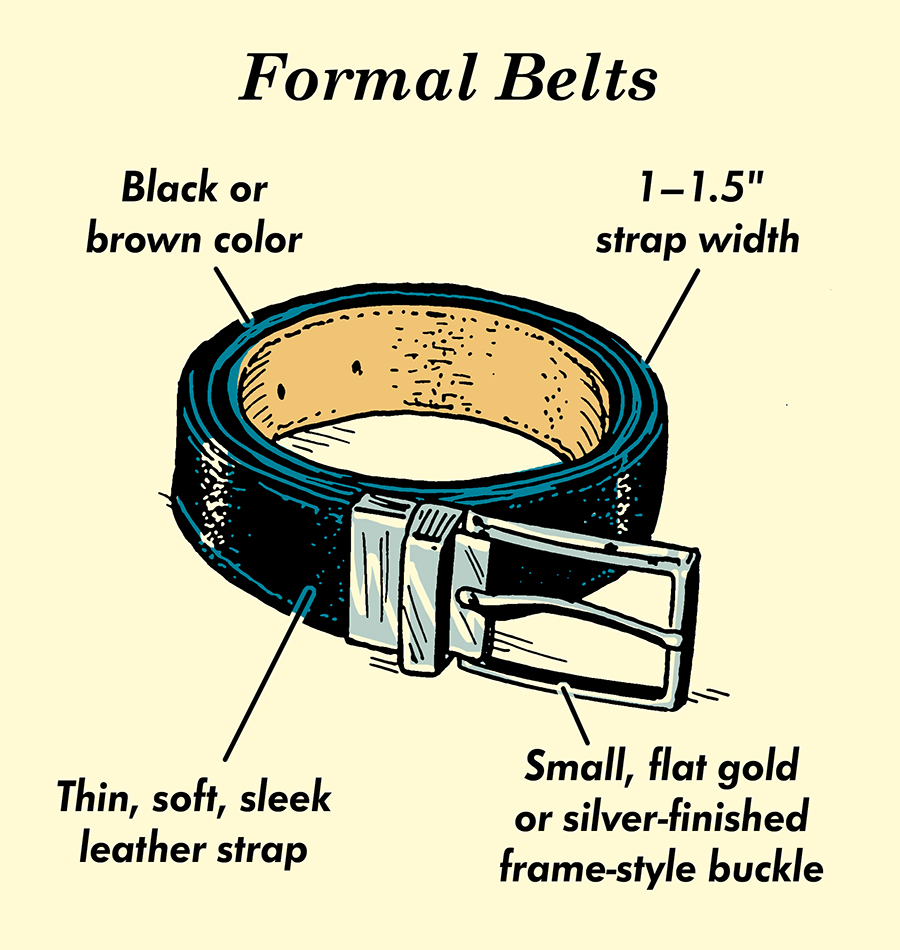 men's formal belts