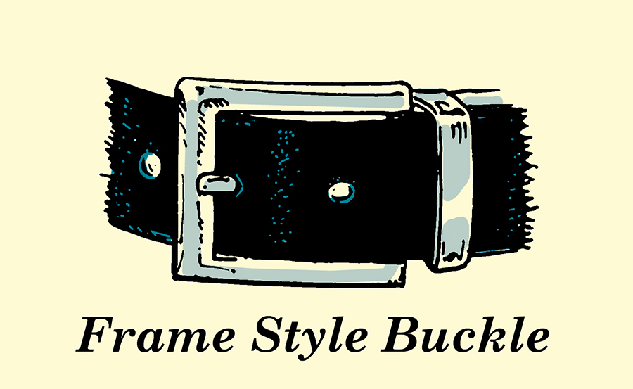 frame style belt buckle